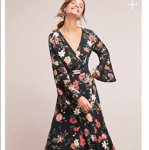 Farm Rio Summer Flower Wrap Dress